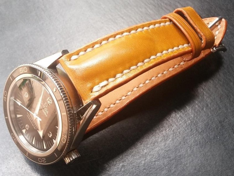 Custom Bespoke Shell Cordovan Leather Watch Strap